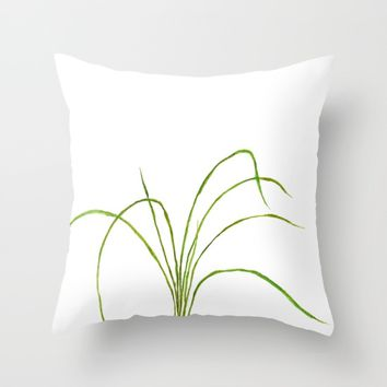 Grass Throw Pillow by Color And Color