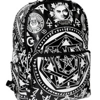 Killstar Clothing Occult Backpack Black Goth Witchcraft Rucksack Bag