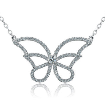 Korean Accessory Stylish Butterfly Pendant [4918318212]