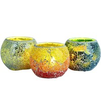 The Best Chirstmas Gift Mosaic Glass Candle Holder for Tealight Candle Scent Candle Window Decoration Based on Safety Use