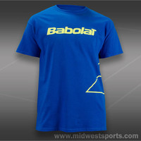 Babolat Mens Tennis T-Shirts, Babolat Logo Outlined Short Sleeve Shirt 911018-13