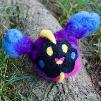 Needle Felted Cosmog - Felt Pokemon Cosmog - Cosmog Cosplay - Tiny Cosmog Sculpture - Pokemon Trainer Cosplay - Felt Galaxy Creature