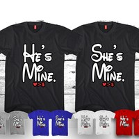 "He's Mine - She's Mine Disney ""Cute Couples Matching T-shirts"""