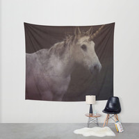 Unicorn - Hanging Tapestry - Wall Tapestry - Unicorn Photography - Large Wall Photograph - Fantasy Wall Art - Home Decor - Made to Order