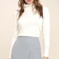 Mademoiselle Light Blue Mini Skirt