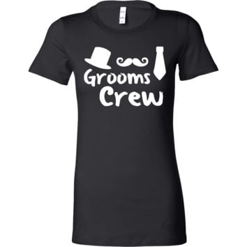 Grooms Crew Funny Bachelor Wedding Party Bella Shirt