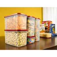 8 Piece Modular Canister Food Storage Stackable Set with Air Tight Lids