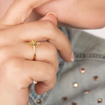 delicate gold ring , 14k gold plated ring , stripes ring , unique gold ring , gift for her,thin gold ring,simple gold ring