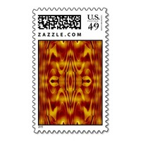 Flames Abstract Postage