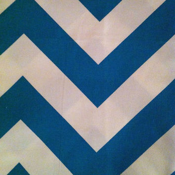 Decorative Body Pillow Cover FREE DOMESTIC SHIPPING  -Approx 20 X 54 inch Turquoise and White Chevron