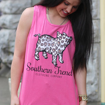 Leopard Proud Pig Tank by SOUTHERN TREND {Crunchberry}
