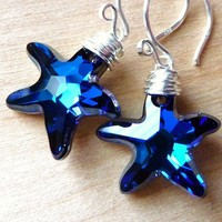 Swarovski Ocean Bermuda Blue Starfish Crystal Wire by JBMDesigns