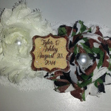 Personalize your garter with your names and wedding date!!  Makes a wonderful keepsake for a throw garter or one to keep for yourself.