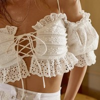 Anabelle Eyelet Crop Top