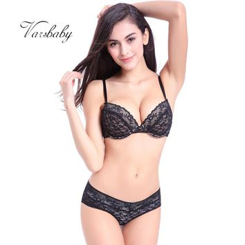 Summer new comfortable thin cotton cup underwear deep V sexy bra sets