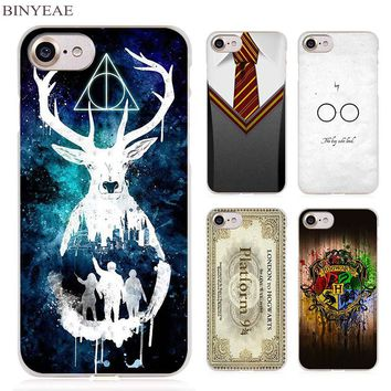 BINYEAE Harry Potter Gryffindor Tie Clear Cell Phone Case Cover for Apple iPhone 4 4s 5 5s SE 5c 6 6s 7 Plus