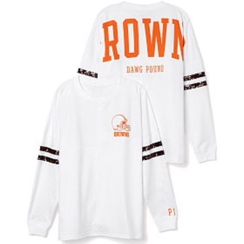 Cleveland Browns Bling Varsity Crew - PINK - Victoria's Secret