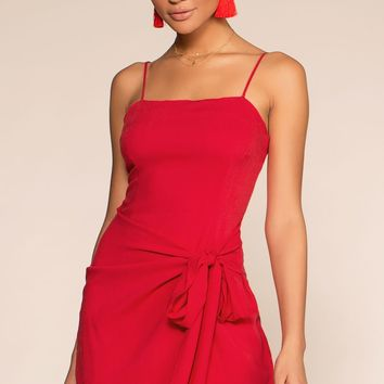 100 Days Of Summer Wrap Dress - Red