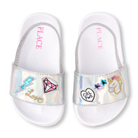 Toddler Girls Holographic Patch Slide | The Children's Place