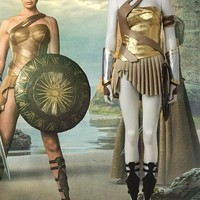 Wonder Woman Gold  Costume Diana Princess Cosplay