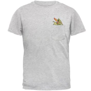 VONEG5F Green Dragon RAWR Pocket Pet Mens Pocket T Shirt