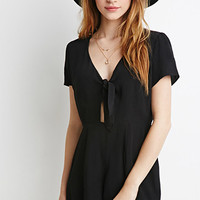 Self-Tie Knotted Romper