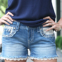 Signature Lace Shorts by Miss Me