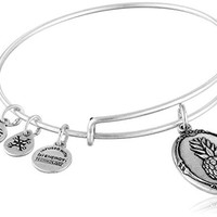 Alex and Ani Pineapple II Expandable Rafaelian Silver Bangle Bracelet