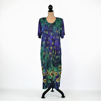 Batik Floral Dress XL Rayon Button Up Dress Plus Size Boho Summer Dress Spring Dress Short Sleeve Purple Sunflower Print Womens Clothing