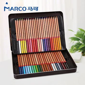 Marco Renoir Colored Pencils 24 36 48 72 Color fine art professional Oily lapis de cor Painting pencil Colored Pencil Tin Box