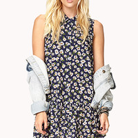 Floral Drop Waist Shirt Dress | FOREVER 21 - 2000052068
