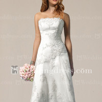 Informal Short Wedding Dress with Lace BC001