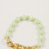 a chain of heart bracelet - three bird nest