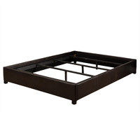 Werner Brown Leather Queen Size Bedframe