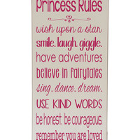 Cream & Pink 'Princess Rules' Plaque | zulily
