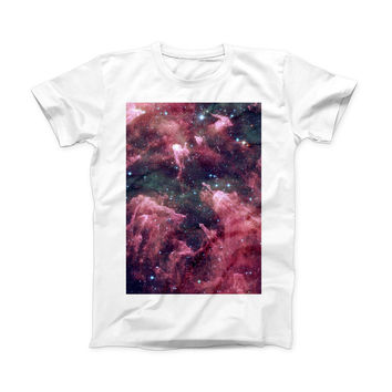 The Vibrant Deep Space ink-Fuzed Front Spot Graphic Unisex Soft-Fitted Tee Shirt