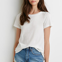 Distressed Trim Tee