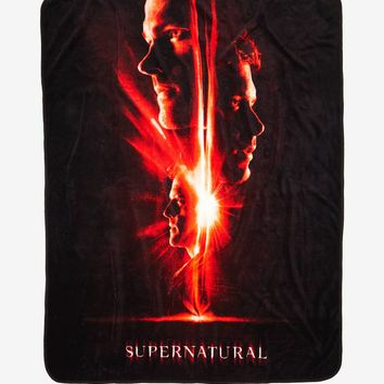 Licensed cool Supernatural Season 13 Poster Sam Dean Castiel Super Soft Fleece Throw Blanket