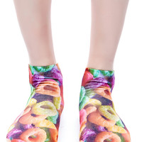 Hollywood Mirror Fruity Loops Ankle Socks Multi