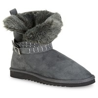 Studded Buckle Faux Suede Boot - Aeropostale