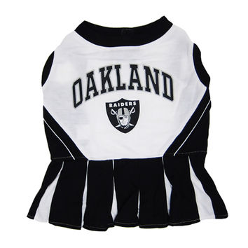 Mirage Pet Products Puppy Dog Cat Costume Oakland Raiders Sports Team Logo Cheer Leading Uniform XS