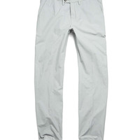 Hudson Tab Front Pant in Light Grey Italian Cotton