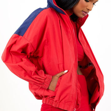 Vintage Nautica Jacket Red