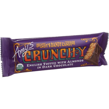 Amy's Organic Andy's Dandy Candy Bar - Crunchy - 1.5 Oz Bars - Case Of 12