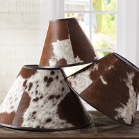 PB BASIC COWHIDE LAMP SHADE