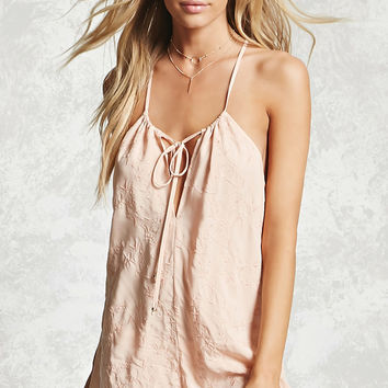 Embroidered Cover-Up Romper