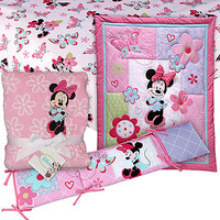 Minnie Mouse 4 PC. Crib Set with Sheet & Blanket Baby Bundle - Baby - Baby Bedding - Bedding Sets & Collections