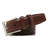 Class Club Strech Braid Belt - Brown/Black
