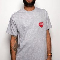 Lover T-shirt Unisex Heather Grey