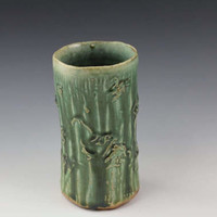 Handmade Green Ceramic Vase